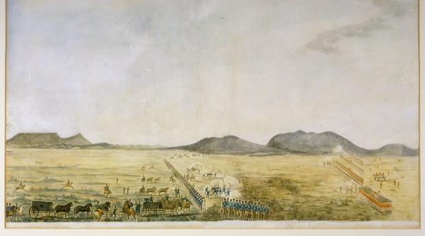 Battle of Blaauwberg by an unknown artist Iziko William Fehr Collection