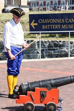 Chavonnes Battery, 3 pounder Muzzle Loading cannon