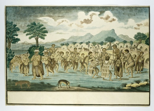 Khoi-Khoi dancers Robert Jacob Gordon 1777-1786, Rijksmuseum